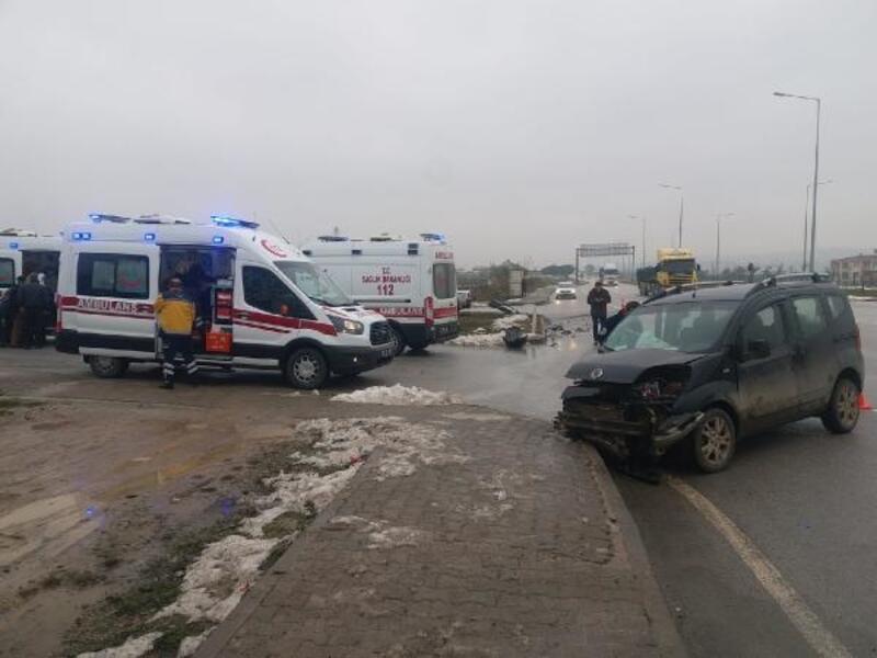 Biga'da trafik kazası: 5 yaralı
