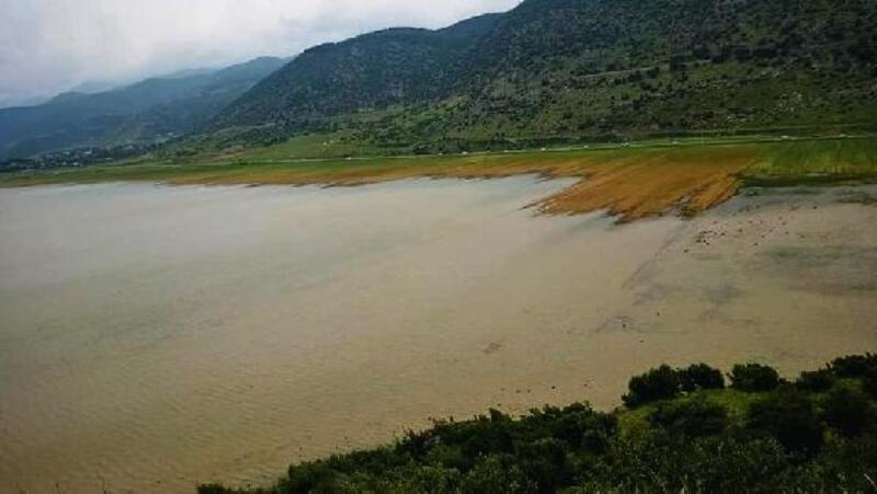 İslahiye'de kuruyan göl yağmurlarla yeniden doldu, ekili arazi su altına kaldı