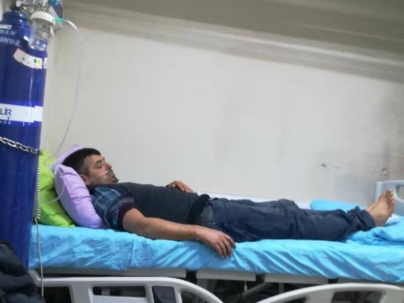 Sobadan sızan gazdan zehirlenen çift hastanelik oldu