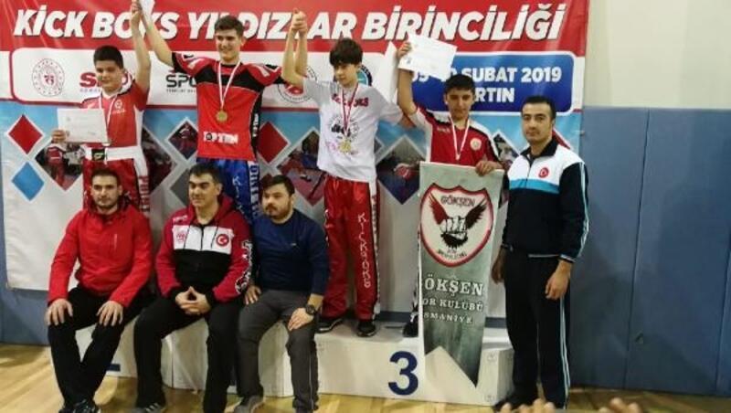 Kick Boksçular Bartın'dan 3 Türkiye derecesiyle döndü