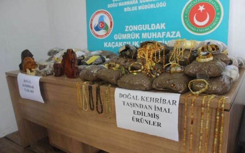 Zonguldak gümrüğünde kaçak kehribar taşı operasyonu