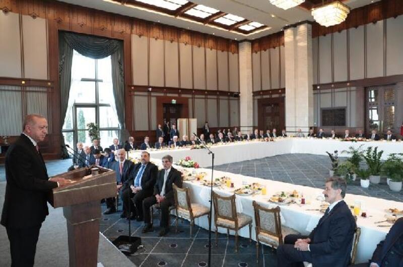 Cumhurbaşkanı Erdoğan, kanaat önderlerini kabul etti