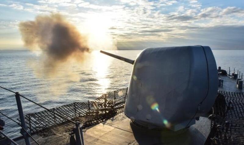'Mavi Vatan Tatbikatı'nda savaş gemileriyle top atışı