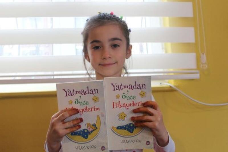 7 yaşındaki Hiranur hikaye kitabı yazdı