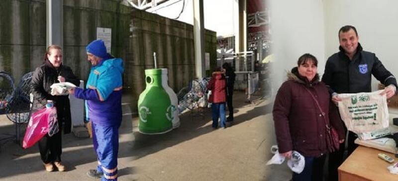Lüleburgaz'da 8 bin bez torba dağıtıldı