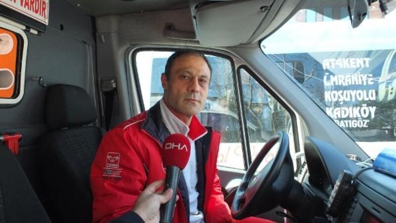 Maganda sürücünün yol vermediği ambulanstakiler o anları anlattı