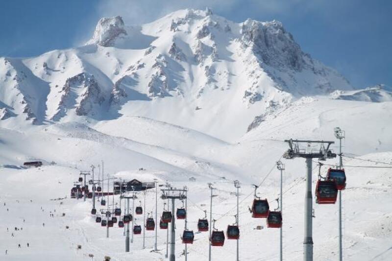 Erciyes'te kar kalınlığı 170 santim oldu