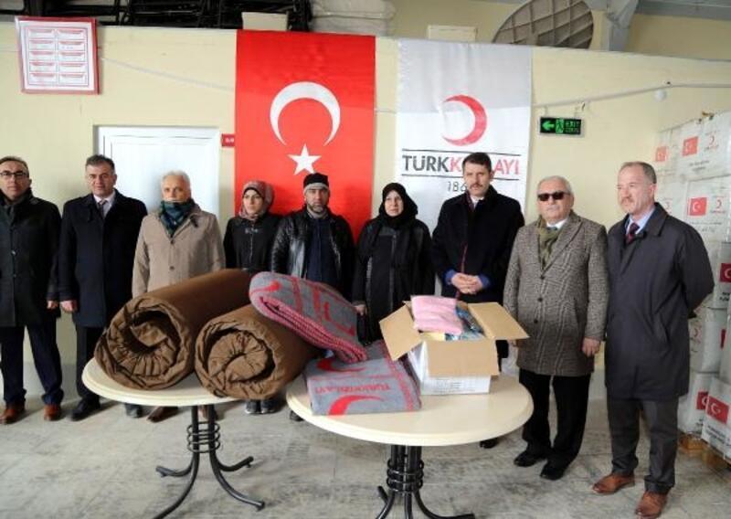 Kızılay'dan mülteci ailelere yardım eli