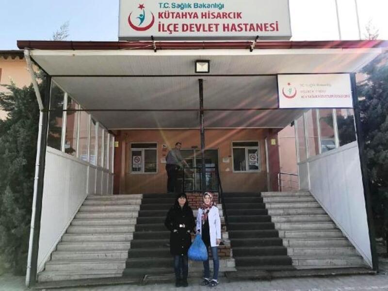 Hisarcık'ta, sağlık personelinden engellilere destek