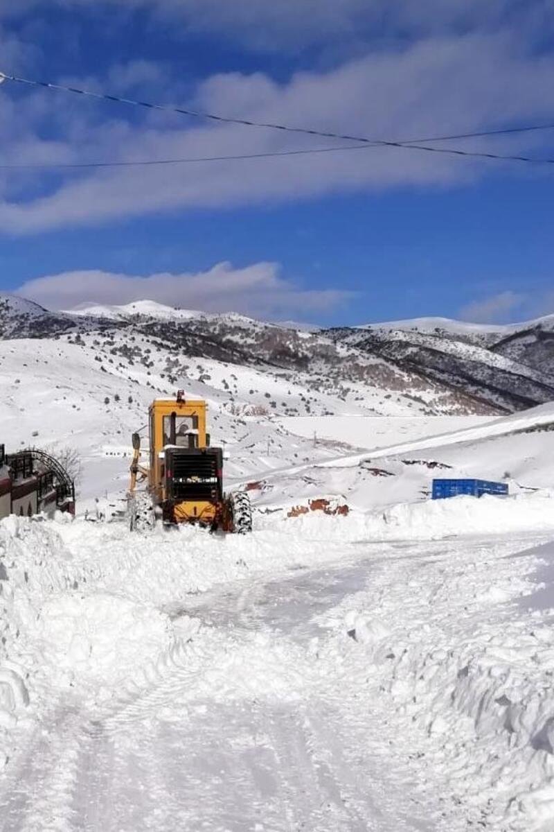 Gümüşhane'de 78 köy yolu kardan ulaşıma kapandı