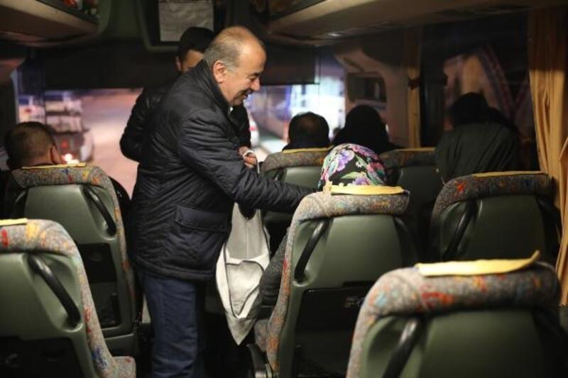Başkan Türkyılmaz, işçileri işe uğurladı