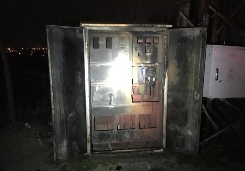 Nusaybin'de elektrik panosunda korkutan yangın