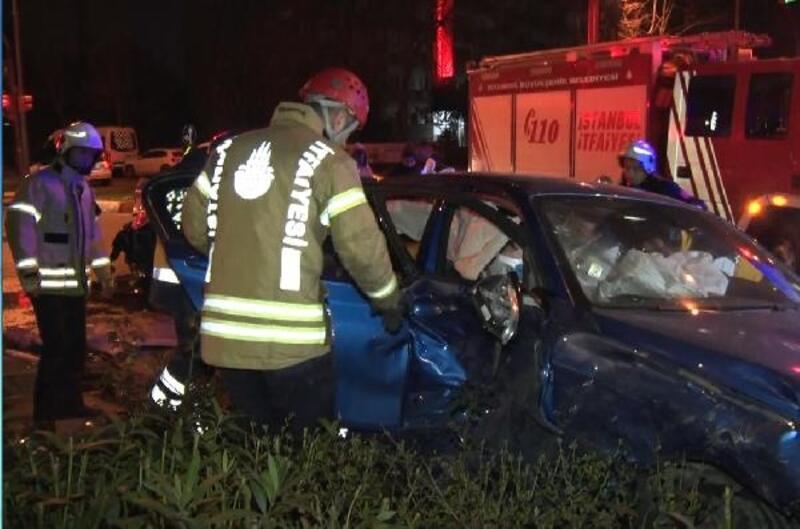 Bakırköy'de trafik kazası: 2 yaralı