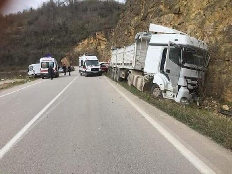 Ordu'da trafik kazası: 8 yaralı