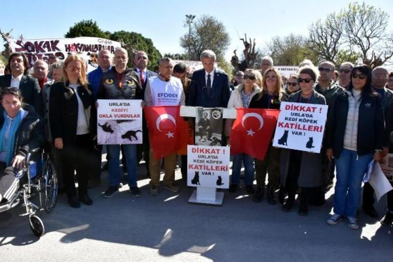 Sokak hayvanlarının telef edildiği iddiasıyla eylem yaptılar