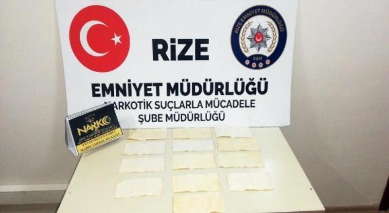 Kağıda emdirilmiş 10 bin kullanımlık bonzai ile yakalandı