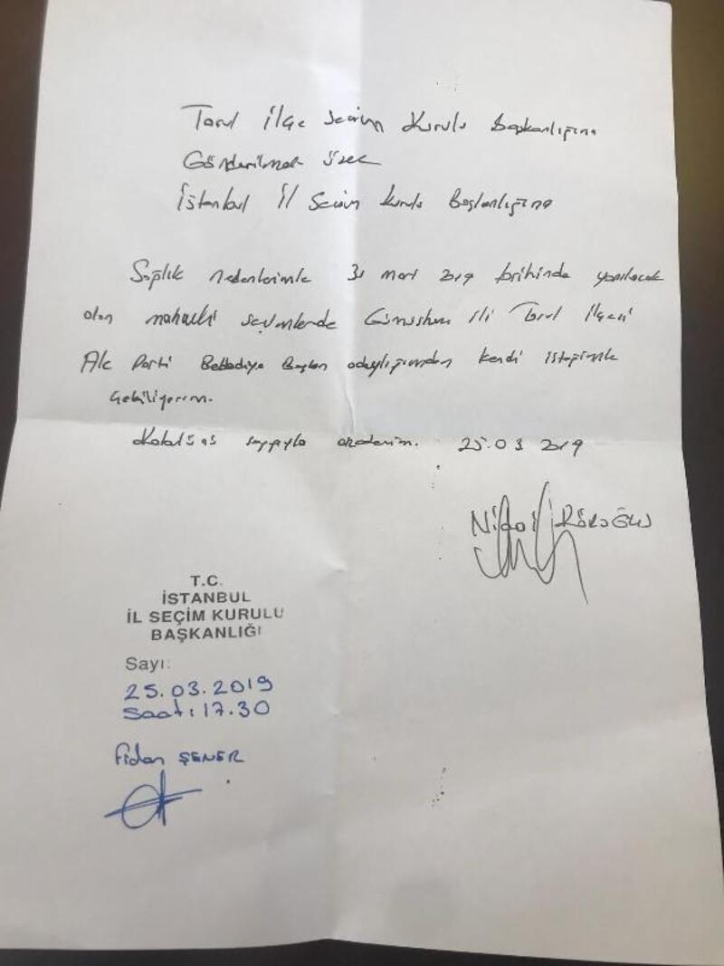Torul'da AK Parti Belediye Başkan adayı Köroğlu, adaylıktan çekildi