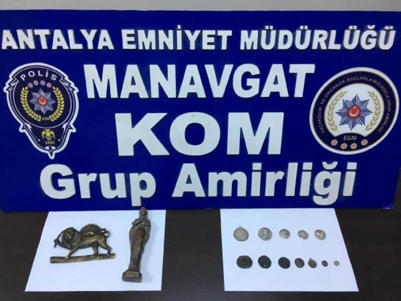 Manavgat'ta tarihi eserler ele geçirildi