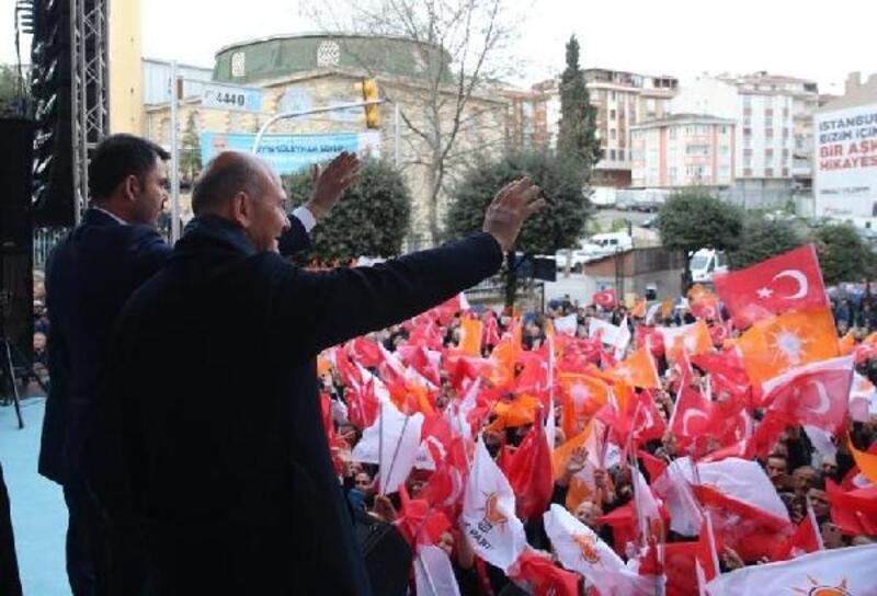 Bakan Kurum ve Soylu'dan Gaziosmanpaşa'da ortak miting
