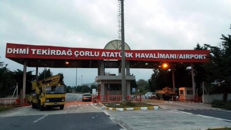 Çorlu Havalimanı'nın adı, 'Tekirdağ Çorlu Atatürk Havalimanı' oldu
