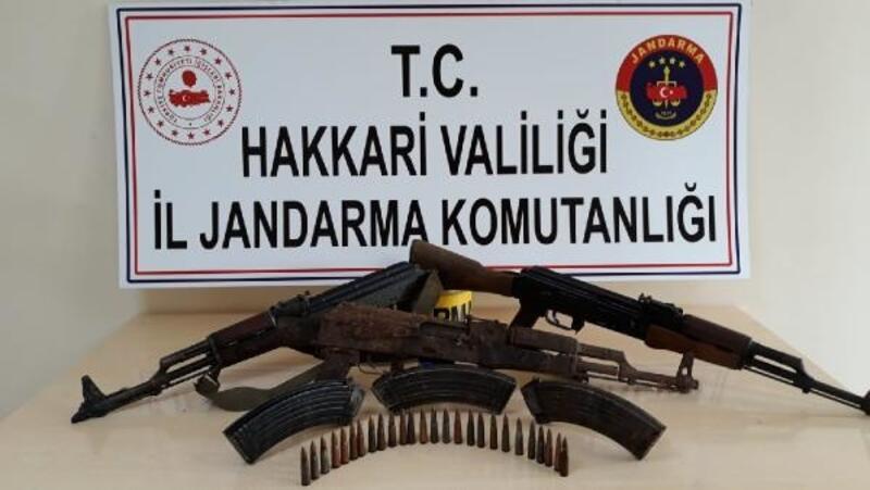 Yüksekova'da PKK'nın silah ve mühimmatı ele geçirildi