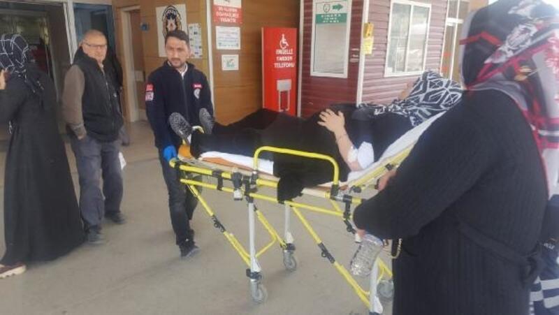 İnegöl'de TIR, otomobile çarptı hamile kadın yaralandı