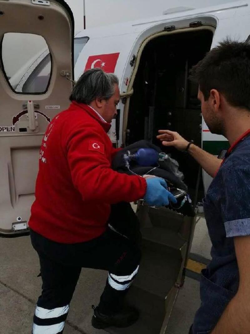 Ambulans uçak, Ceren bebek için havalandı