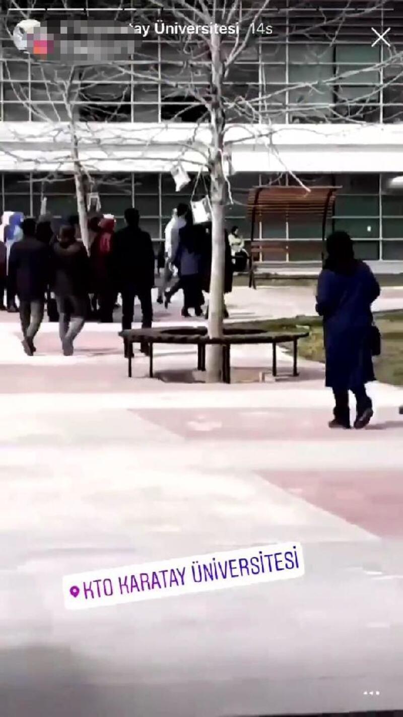 Üniversiteden, provokatif  görüntüler hakkında suç duyurusu