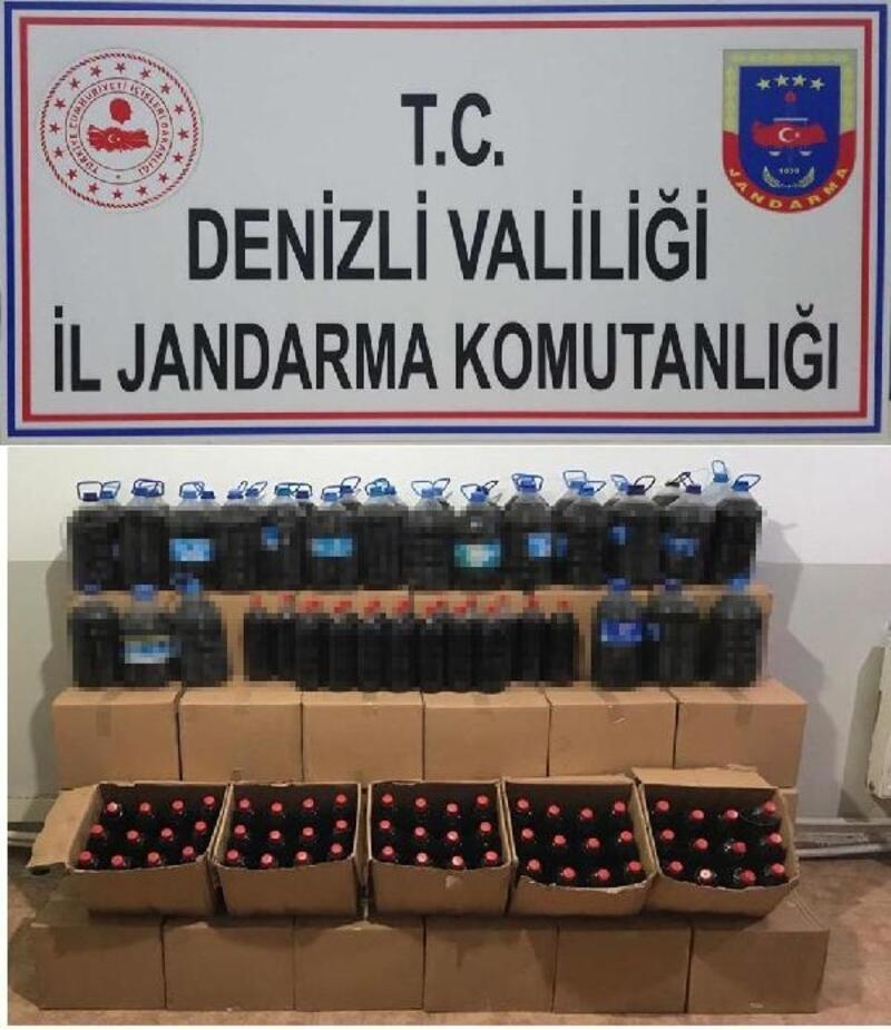Denizli'de 1263 litre kaçak şarap ele geçirildi