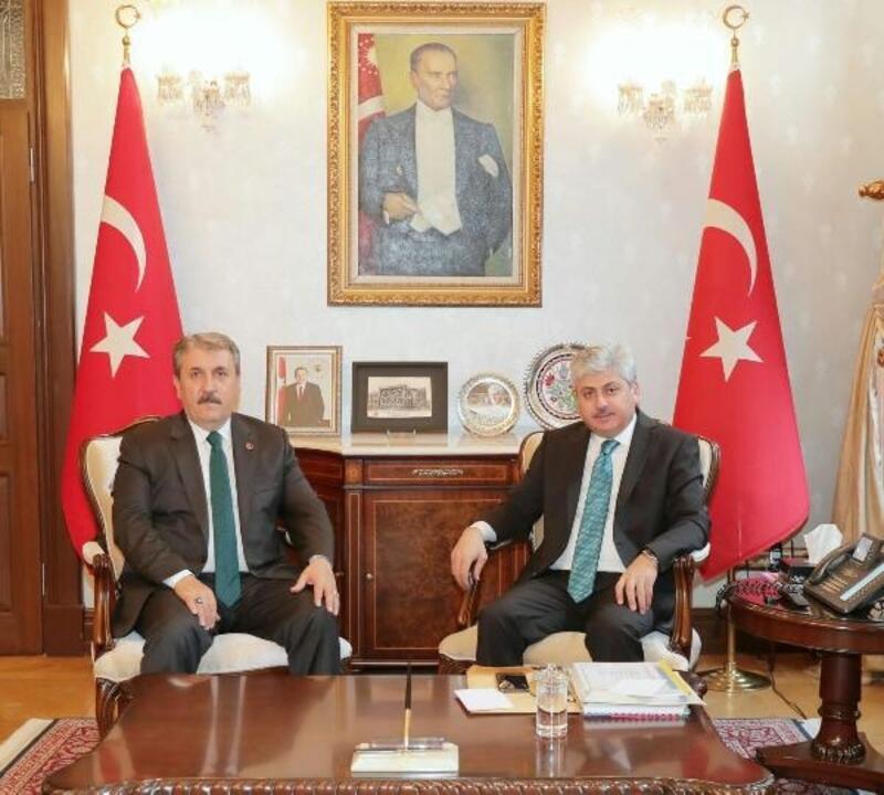 BBP Genel Başkanı Destici Vali Doğan'ı ziyaret etti