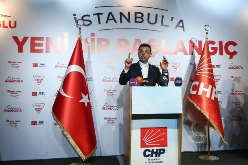 Ekrem İmamoğlu basın açıklaması yaptı.