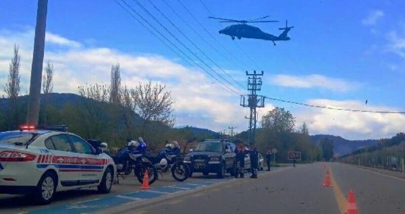 Ortaca'da havadan denetimle 3 sürücüye ceza yazıldı