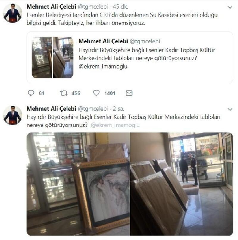 Esenler Belediyesi Başkanı Göksu: Tablolar kaçırılmıyor, sergiden geri dönüyor