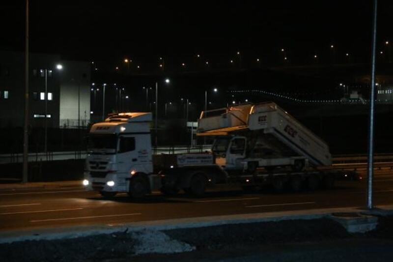 TIR'lar İstanbul Havalimanı'na giriş yaptı