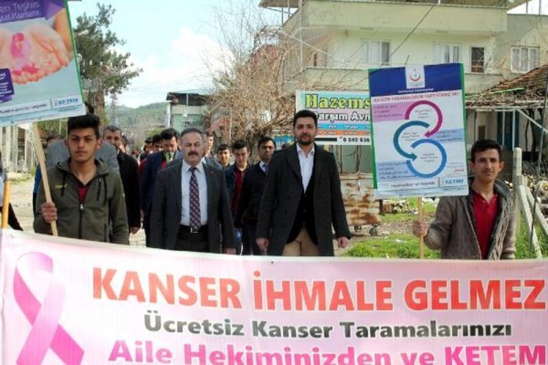 Osmaniye'de kanser haftası etkinlikleri