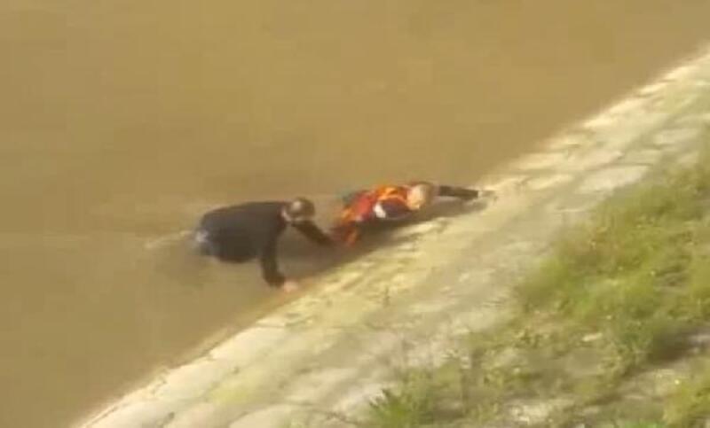 Nehre düşen kişiyi, eski cankurtaran kurtardı