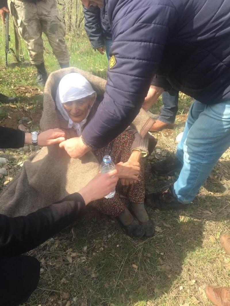 Karakoçan'da kaybolan 88 yaşındaki kadın, baygın bulundu
