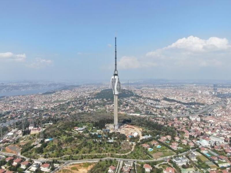Çamlıca TV Kulesi'nde yaşam alanlarının bulunduğu katlarınmontajıtamamlandı