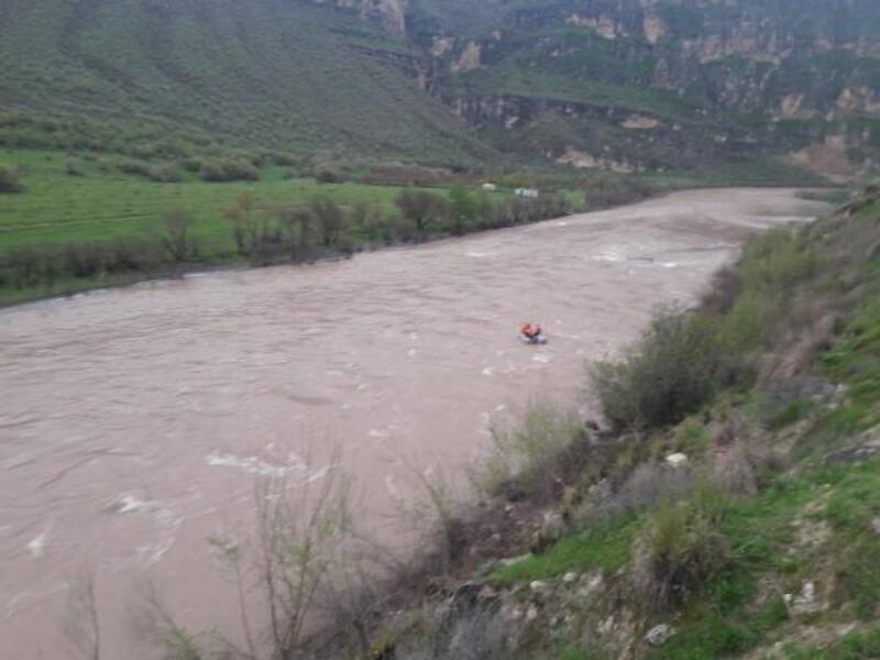 Otomobil Botan Çayı'na devrildi; sürücü ile 2 çocuk aranıyor