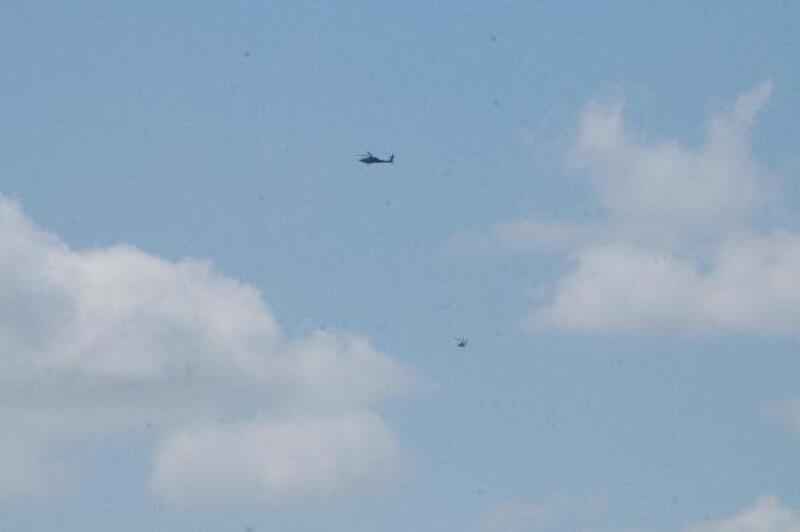 Telabyad semalarında helikopter hareketliliği