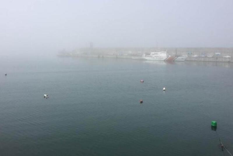 Zonguldak'ta sis nedeniyle görüş mesafesi düştü