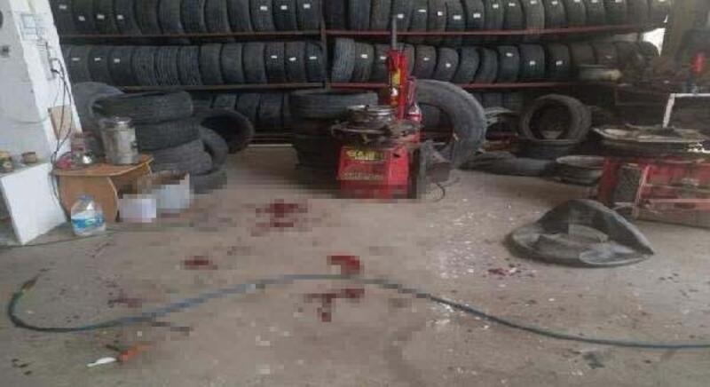 Tamiri yapılan lastik patladı: 3 yaralı