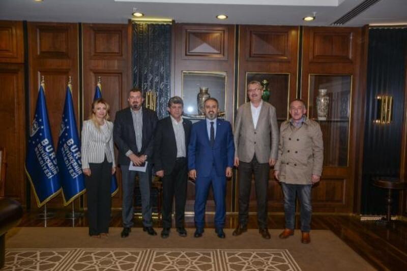 Karacabey Belediye Başkanı Özkan'dan Aktaş'a ziyaret