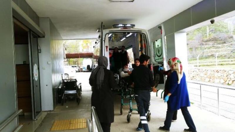 Çelikhan'da otomobil devrildi: 2 yaralı
