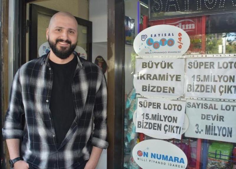 Süper Loto'da 15 milyon ikramiye kazanan kupon İzmir'deki bayide oynandı