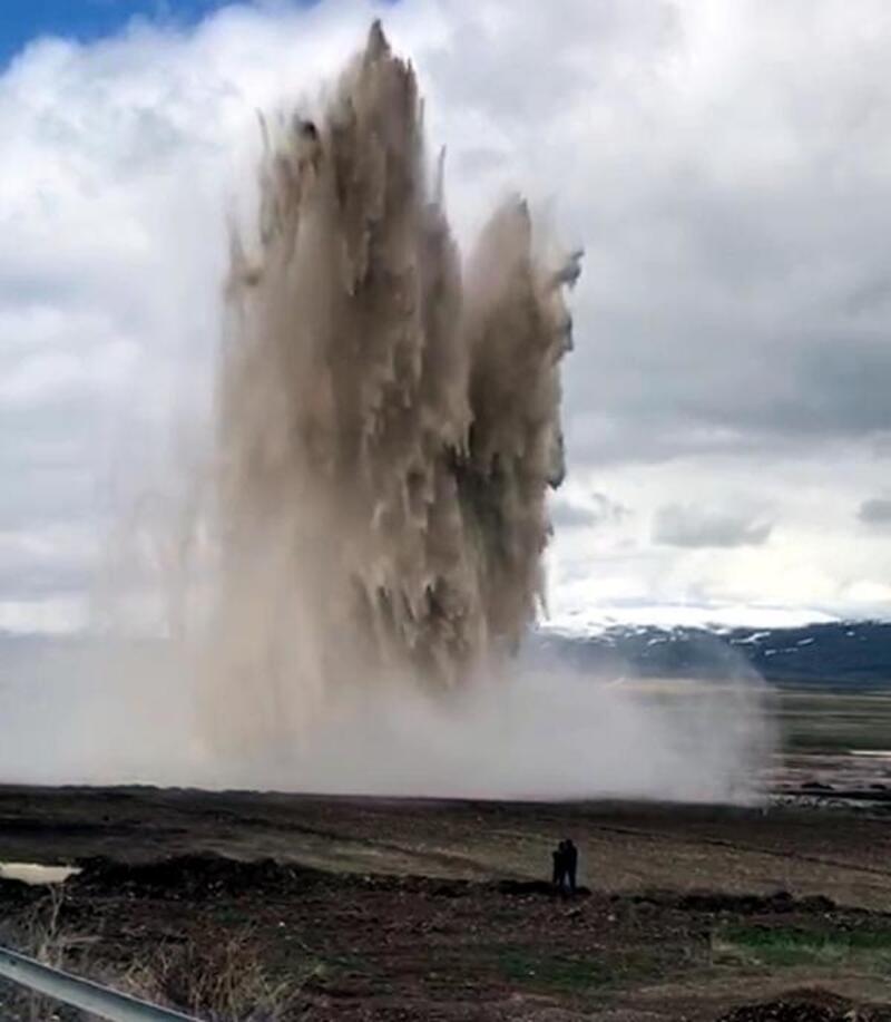 Erzurum'da su borusu patladı, şehir susuz kaldı