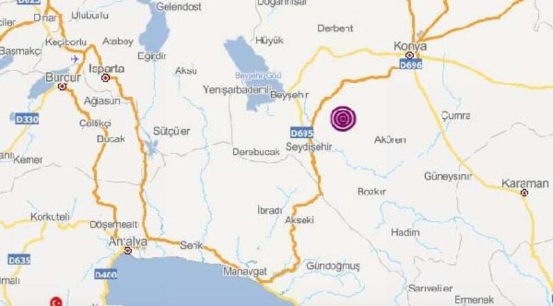 Konya'da 3.5 ve 3.8 büyüklüğünde iki deprem