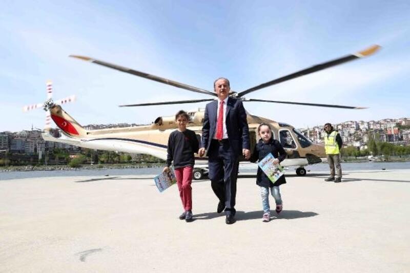 Bağcılarlı 23 öğrenci helikopterle İstanbul turu yaptı