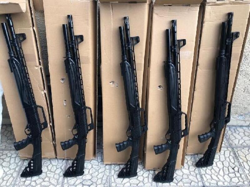 Malatya'da 5 av tüfeği ele geçirildi