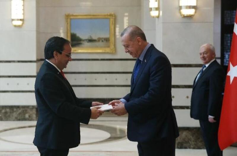 Erdoğan'a Dominik Cumhuriyeti Büyükelçisi ile Arjantin Büyükelçisi'nden güven mektubu